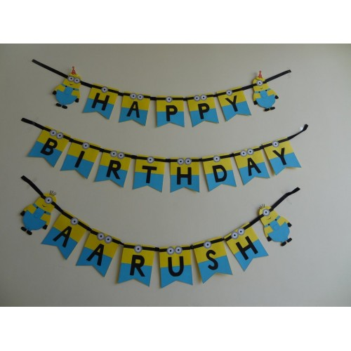 Minion theme- Personalised Banner